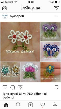 Discover thousands of images about This Pin was discovered by Nur Needle Tatting Patterns, Crochet Patterns, Hobbies And Crafts, Crafts To Make, Crochet Unique, Tatting Lace, Beaded Animals, Sewing Techniques, Beaded Embroidery