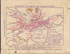 Map of the District Railway, London and its connections, 1907