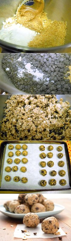 No Bake Energy Bites Recipe Ingredients basic dough cup nut butter (peanut, almond, sunflower) 1 cup rolled oats, old-fashioned or quick cup honey cup dried whole milk 1 teaspoon… Low Carb Recipes, Cooking Recipes, Diet Recipes, Healthy Recipes, Breakfast Recipes, Dessert Recipes, Breakfast Time, Delicious Desserts, Yummy Food