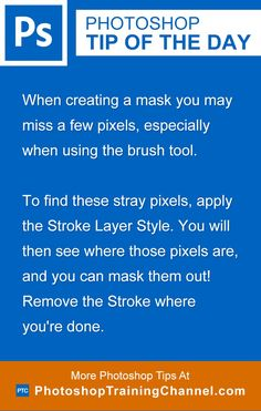 When creating a mask you may miss a few pixels, especially when using the brush…