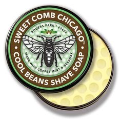 Cool Beans Shave Soap by SWEET COMB CHICAGO - The best part of waking up... is shaving with this awesome soap! Cool Beans Shave Soap offers rich, creamy lather with a robust coffee and mint aroma for an exhilarating morning shave. A nourishing blend of natural oils and butters leaves skin ultra-soft and amazingly hydrated.   Crafted in small batches in Chicago.