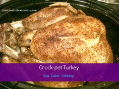 Whole Turkey in the Crock-pot for Thanksgiving-The Most Moist Turkey EVER!
