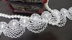 VENISE Lace Trim, White Crochet Hollowed Lace, Retro Circle Trim, Bridal Wedding Lace Trim ◆ This listing is for 2 Yards. ◆ Measuring is about 1.65 (4.2 cm) wide ◆ Listing for black one: https://www.etsy.com/listing/195661507/black-gothic-necklace-lace-venice-circle ◆ It can be used for wedding dress, lingerie, bra, dresses, dolls, bridal veil, altered art, couture, costume, jewelry design, pillowcase, home decor and much more! ***For more quantity, pleas...