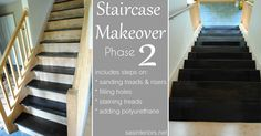 Staircase Makeover Part Two: Filling Holes and Staining Treads by @jenna_burger, www.sasinteriors.net