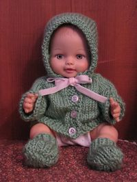 """Fits 15/"""" 16/"""" tall doll BABY T.LEE 1 pr WHITE ANKLE SOCKS w//LACE Size 03 BITTY"""