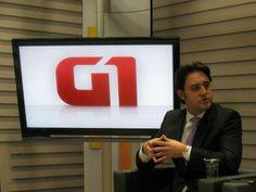 Ratinho Junior participa da série de entrevista com candidatos a prefeito de Curitiba para o G1.
