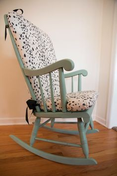 DIY Les Touches Upholstered Rocking Chair. A custom upholstered rocker ...