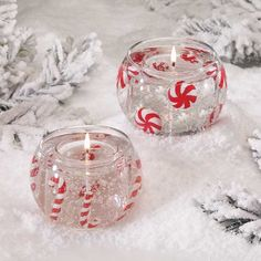 Jell+Candles | ... Candles Pack of 4 Holiday Cheer Peppermint Candy Christmas Gel Candles