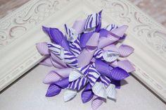 Purple Zebra Korker Bow