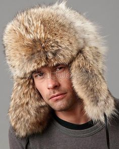 Coyote Full Fur Russian Hat for Men b5ab25ccd141