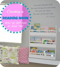 """tinysidekick: Creating a Reading Nook (when you don't have an actual """"nook"""")"""