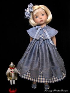 Fantasy Frocks Designs-dress with little cape for Little Darlings