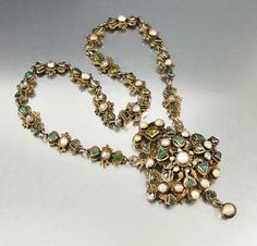 http://rubies.work/0168-ruby-rings/ Antique Austro Hungarian Pearl Emerald Necklace – Boylerpf