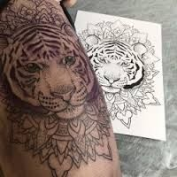 Image result for tiger mandala tattoo