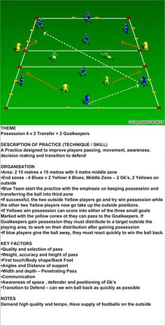 4v2 Possession and Transition + Goalkeepers