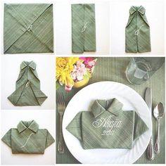 The Perfect DIY Unique Polo Shirt Napkin - http://theperfectdiy.com/the-perfect-diy-unique-polo-shirt-napkin/