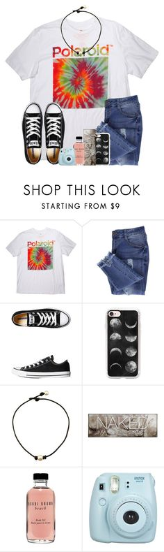 """Coming home from spiritus"" by jojo2056 ❤ liked on Polyvore featuring Polaroid, Essie, Converse, Casetify, Urban Decay, Bobbi Brown Cosmetics and Fujifilm"