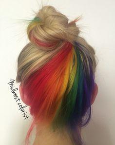 My favorite work so far. The hidden rainbow  Rainbow hair