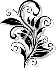 iCLIPART - Clip Art Illustration of a Beautiful Floral Pattern with a Drop Shadow #clipart #illustration #floral