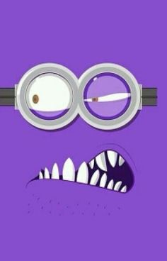 Tap image for more funny minion iPhone wallpaper! Despicable Me Evil Purple Minion - Cartoon Wallpaper, S4 Wallpaper, Cellphone Wallpaper, Disney Wallpaper, Pattern Wallpaper, Wallpaper Backgrounds, Minion Wallpaper, Phone Backgrounds, Purple Wallpaper