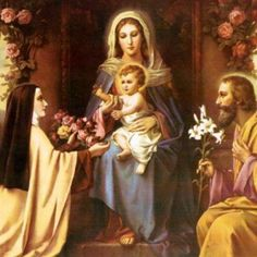 St Therese of Little Flower and the Holy Family