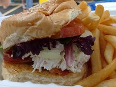 Ted's bakery north shore... LOVEDTHIS!  Crab & Bacon Combo Sandwich by arnold