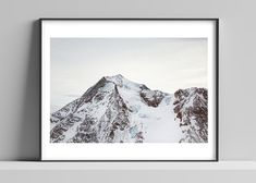 Limited edition signed photographic print by Anna Partington - 'A view from Aiguille Rouge' - 16 x 20 inch - French Alps French Alps, Snowy Mountains, Scenery, Anna, Tapestry, Prints, Shop, House, Products