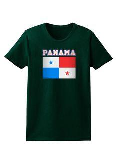 Panama Flag Dark Womens Dark T-Shirt