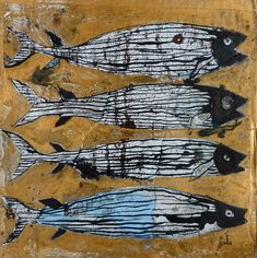 Contemporary Artwork, Contemporary Artists, Fish Tales, Life Paint, Art En Ligne, Boat Painting, Environmental Art, Fish Art, French Artists