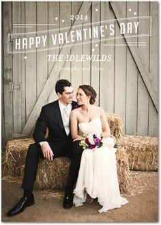 Picture of Love - Valentine's Day Photo Cards - Petite Alma. This is the perfect card for newlyweds!