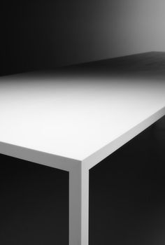 Tense, table with monochromatic and mono-material finish by MDF Italia _