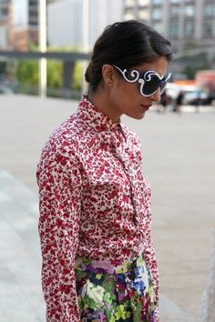 Floral Street Style in Milan