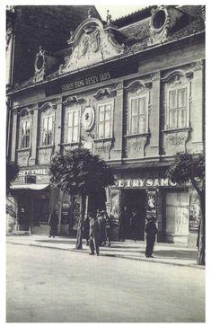 Marosvásárhely:Petry Samu hentes üzlete.1942