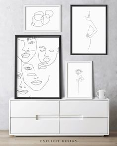 Free Custom order, if You want to exchange one to two artworks in the set. You can choose from any other print in the store. Press Request a custom order and indicate Your wish. Female Wall Gallery, Printable Set Of 4, Art Print Bundle, Four Minimalist Posters, Large Girl Face Drawing, One Line Prints, Botanic Rose. INSTANT DOWNLOAD This listing is for a DIGITAL FILE of this artwork. No physical item will be sent. You can print the file at home, at a local print shop or using an online…