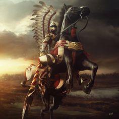 Hussar, Przemek Nawrocki on ArtStation at https://www.artstation.com/artwork/WJ19v