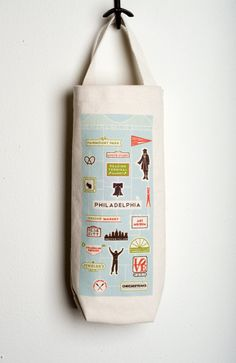 we love 13th street • blog: we heart philly Philly Icons wine tote now available!