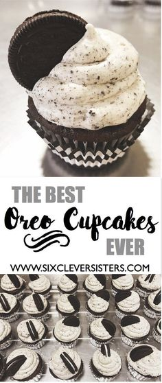 Cupcakes The absolute best oreo cupcakes ever! This amazing cupcake recipe is sure to be the crowd favorite at your next party!The absolute best oreo cupcakes ever! This amazing cupcake recipe is sure to be the crowd favorite at your next party! Dessert Oreo, Oreo Desserts, Mini Desserts, Easy Desserts, Oreo Cupcake Recipes, Best Cupcake Recipe Ever, Baking Desserts, Dessert Food, Frosting Recipes