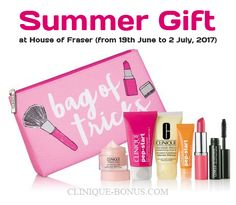 Buy 2 or more Clinique products online at House of Fraser or at participating stores and enjoy this 7-pc gift-set. http://clinique-bonus.com/united-kingdom/