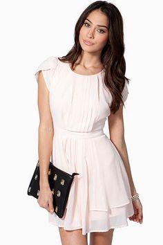 Petal Sleeve Pleat Dress