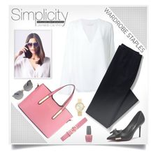 """Simplicity"" by jelenamaks ❤ liked on Polyvore featuring Chloé, Lands' End, Lipsy, Gucci, Dolce&Gabbana, OPI, Kate Spade and WardrobeStaples"