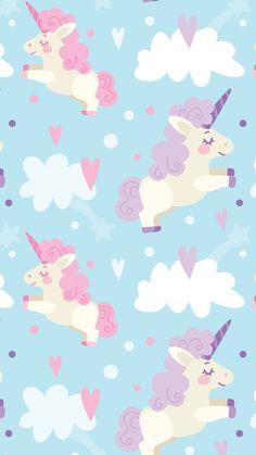 Pink Unicorn Wallpaper, Unicorn Backgrounds, Cute Pastel Wallpaper, Cool Backgrounds, Kawaii Wallpaper, Wallpaper Backgrounds, Iphone Wallpaper, Unicorn Lockscreen, Tumblr Wallpaper