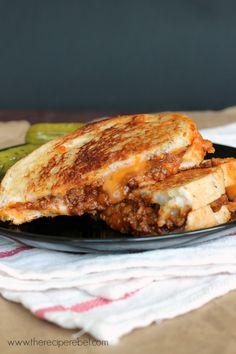 Sloppy Joe Grilled Cheese - The Recipe Rebel
