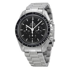 Omega Speedmaster Professional Moonwatch Black Dial Stainless Steel Men's Watch 31130423001005 - Speedmaster - Omega - Shop Watches by Brand - Jomashop Omega Shop, Omega Speedmaster Moonwatch Professional, Most Popular Watches, Mens Watch Brands, Swiss Army Watches, Omega Seamaster, Luxury Watches For Men, Unique Watches, Casual Watches