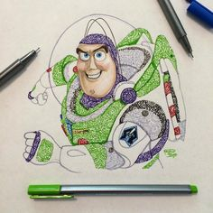 Buzz Lightyear (Drawing by Kristina_Illustrations @Instagram) #ToyStory
