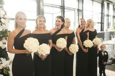 """Inside an elegant South Melbourne city wedding : Of the bridal party, Habermann said: """"I am one of four girls and the first to get married in my family. We are all quite close and it meant a lot to me to have my three sisters share my special day and the special moments we can look back on forever. I also had my three best friends [in the bridal party] with one being the maid of honour."""""""