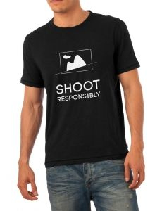 Shoot Responsibly T-shirt for photolovers #thinkandshoot
