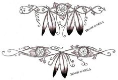 feather tattoo, feathers, indian, indian tattoo, natie american tattoo