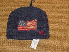 POLO RALPH LAUREN USA  FLAG  BEANIE  HAT  TODDLER  2 - 4 YEARS  INDIGO RAGG NEW #PoloRalphLauren #Beanie