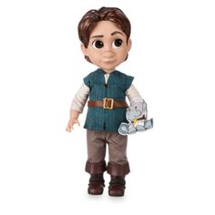 Tangled fans will fall in love with this adorable Animators' Collection Flynn Rider doll! The characterful design depicts the Tangled star as a little boy, with a detailed outfit and a mini Maximus soft toy.