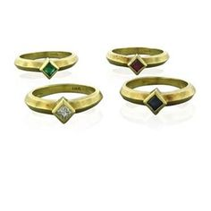 Nancy & David 18K Gold Diamond Multi Color Gemstone Ring Lot Featured in our upcoming auction on October 10!